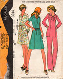 McCall's 3244 70s stretch dress tunic pants