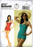 Butterick B 6067 GERTIE'S Womens One Piece Bombshell Stretch Swimsuit Sewing Pattern Size 6 8 10 12 14 or 14 16 18 20 22 UNCUT Factory Folded