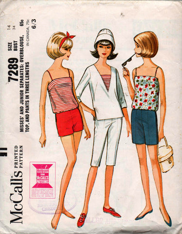 McCall's 7289 60s separates