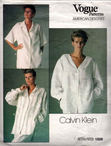 Vogue 1509 80s calvin klein shirt