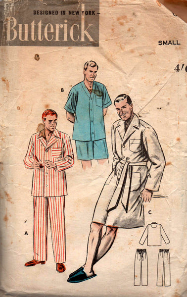 Butterick 6317 mens pjs robe