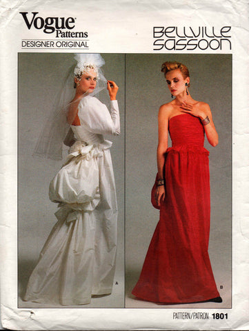 Vogue 1801 Bellville Sassoon wedding dress