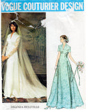vogue 1156 belinda bellville wedding dress 70s
