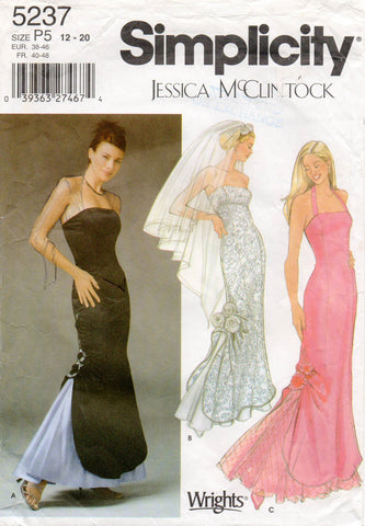 simplicity 5237 Jessica mcClintock wedding dress