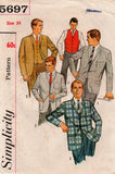 simplicity 5697 60s mens jacket and vest