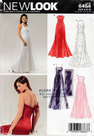new look 6454 evening dress