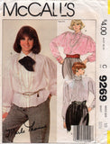 McCall's 9269 80s blouses