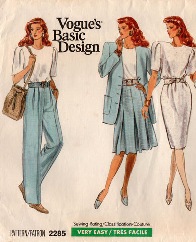 Vogue 2285 basic design separates 80s