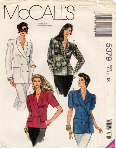 McCall's 5379 90s jackets