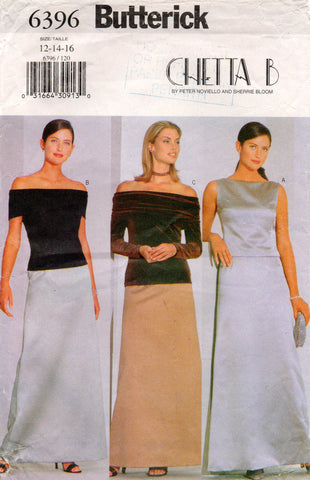 butterick 6396 90s chetta b tops and skirts