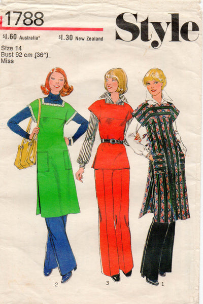 style 1788 tabard tunic top and pants 70s