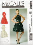McCall's M6463 Womens STEPHANIE O Side Gathered Evening Prom Formal Dress OOP Sewing Pattern Size 4 - 12 or 12 - 20 Factory Folds