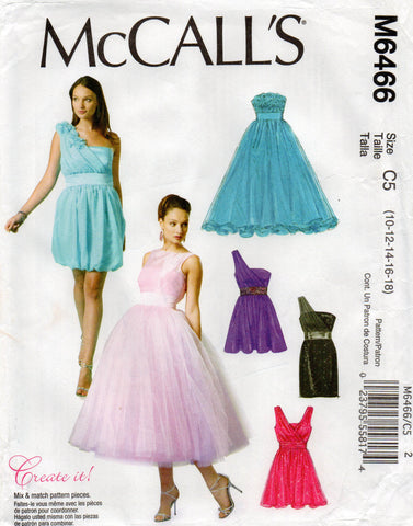 mccall's 6466 oop evening dress