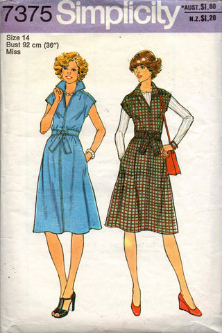 Simplicity 7375 70s dress or jumper