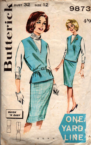 Butterick 9873 60s skirt and top