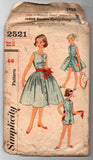 Simplicity 2521 Teen Girl's Playsuit Blouse Skirt & Sash 1950s Vintage Sewing Pattern Size 12 Breast 30 inches