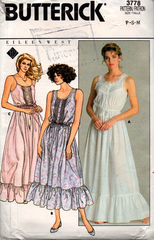 butterick 3778 nightgown