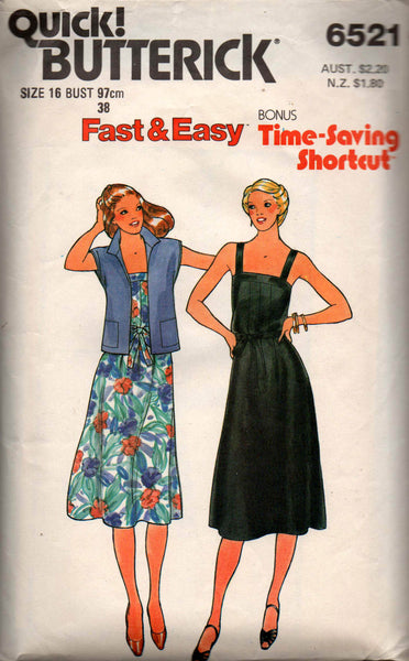 Butterick 6521 dress and jacket
