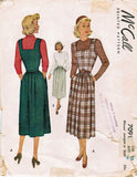 McCall 7091 Womens Square Neck Jumper or Skirt with Pockets 1940s Vintage Sewing Pattern Size 16 Bust 36 inches UNCUT Factory Folded