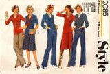 Style 2085 Womens Top Bias Skirt & Pants 1970s Vintage Sewing Pattern Size 18 and 20 UNCUT Factory Folds