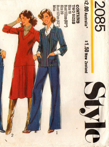 Style 2085 womens separates 70s