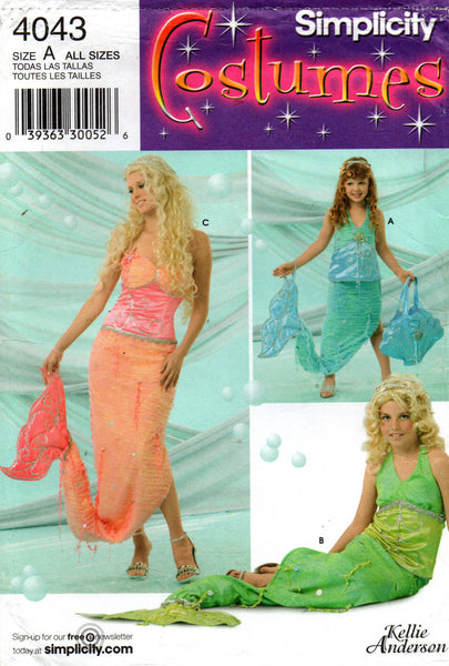 simplicity 4043 mermaid costume