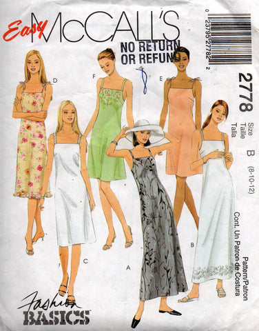 McCall's M2778 sundresses out of print