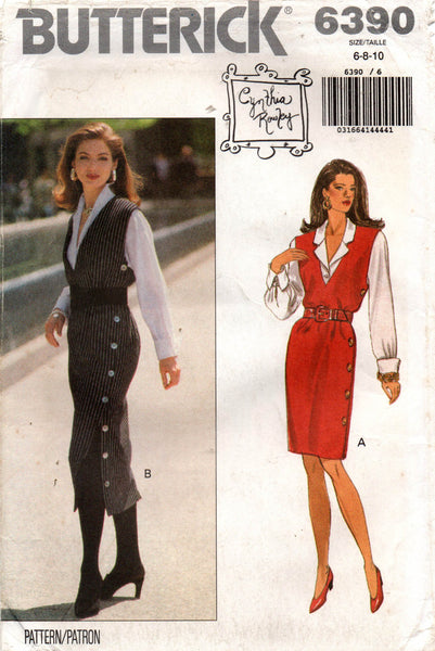 butterick 6390 cynthia rowley jumper and blouse