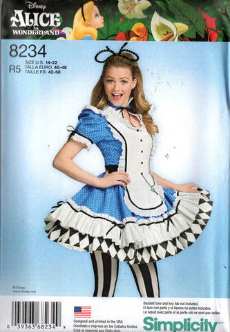 simplicity 8234 alice in wonderland costume