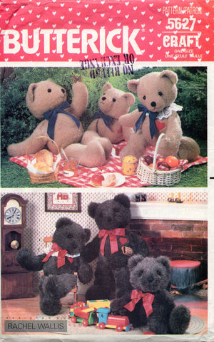 butterick 5627 teddy bears 80s