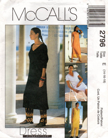 McCall's 2796 oop caftan and pants