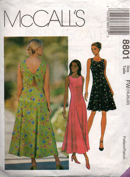McCall's 8801 90s sundress