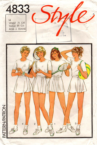 Style 4833 80s tennis skirts