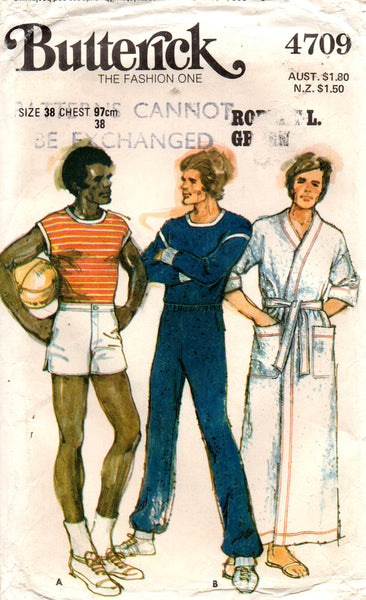 butterick 4709 mens leisure wear 70s