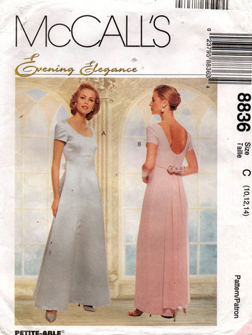 McCall's 8836 evening elegance 90s dress