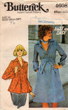 butterick 4608 70s blouse dress sash