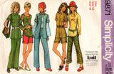 Simplicity 9871 Womens Shirt-Jacket Stretch Top Shorts & Pants 1970s Vintage Sewing Pattern Size 12 Bust 34 inches UNCUT Factory Folds