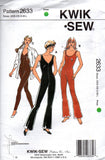 Kwik Sew 2633 Womens Catsuits or Unitards 90s Sewing Pattern Size XS - S - M - L - XL UNCUT Factory Folds