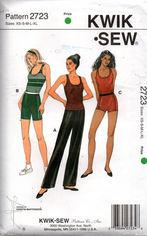 kwik sew 2723 gym wear