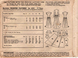 McCall 6353 Womens Elegant Post War Wedding Dress with Optional Train 1940s Vintage Sewing Pattern Size 16 Bust 34 inches UNCUT Factory Folded