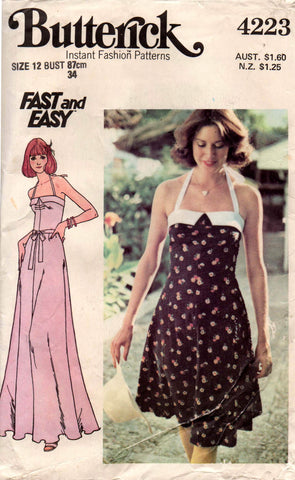 Butterick 4223 dress or maxi 70s