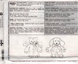 McCall's 8550 Stuffed Toys Cat & Puppy 90s Sewing Pattern UNCUT Factory Folded