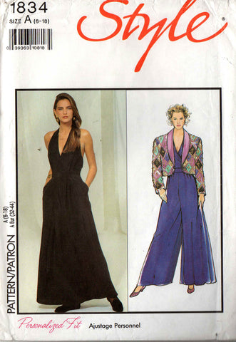 Style 1834 wide leg jumpsuit and bolero