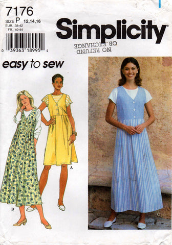 0470a10c144e Simplicity 7176 Womens Easy Jumper   T Shirt Top 90s Sewing Pattern Size 12  14 16 18 UNCUT Factory Folded