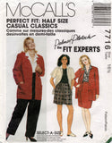 McCall's 7716 90s half size suit