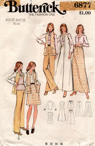 butterick 6877 70s separates