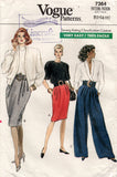 vogue 7364 80s pants and skirts