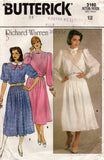 butterick 3160 80s top and skirt