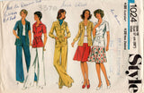 Style 1024 Womens Safari Style Shirt Skirt & Pants 1970s Vintage Sewing Pattern Size 16 Bust 38 Inches