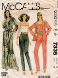 McCall's 7335 Womens Camisole Robe Jacket & Pants 1980s Vintage Sewing Pattern Size 14 Bust 36 Inches